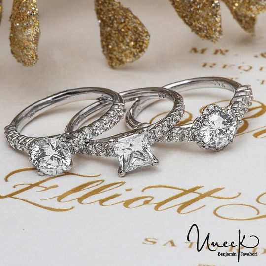 Choice of engagement rings