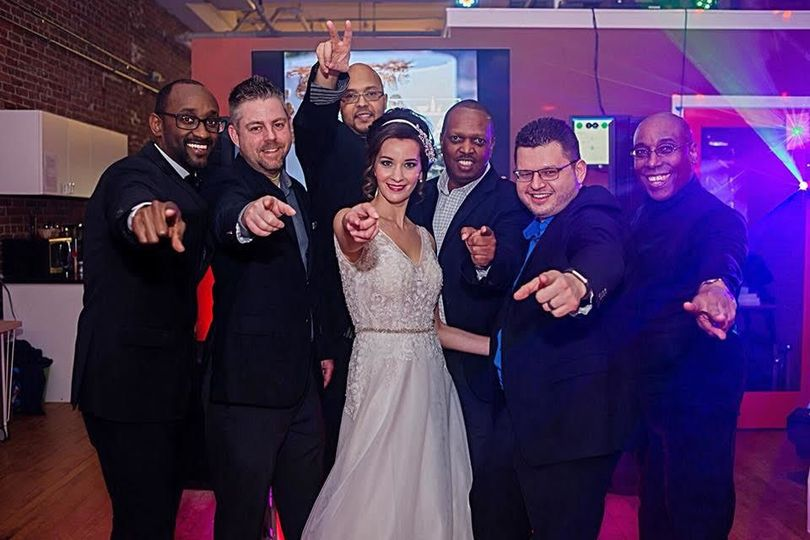 Bride with the DJs