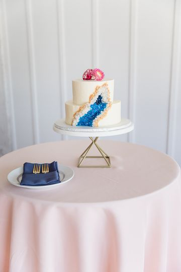 Marble & Gold Cake Stand