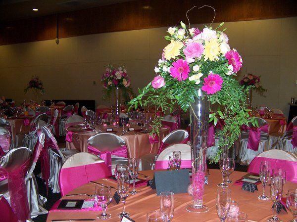 tall pilsner floral centerpiece