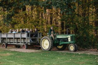 Tractor ride to Hilltop