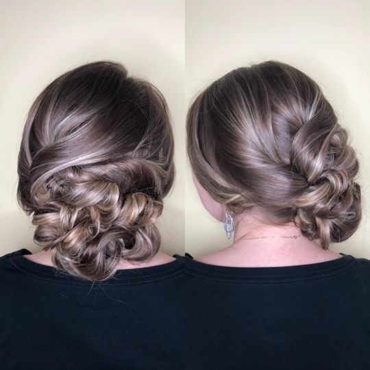 Traditional updo