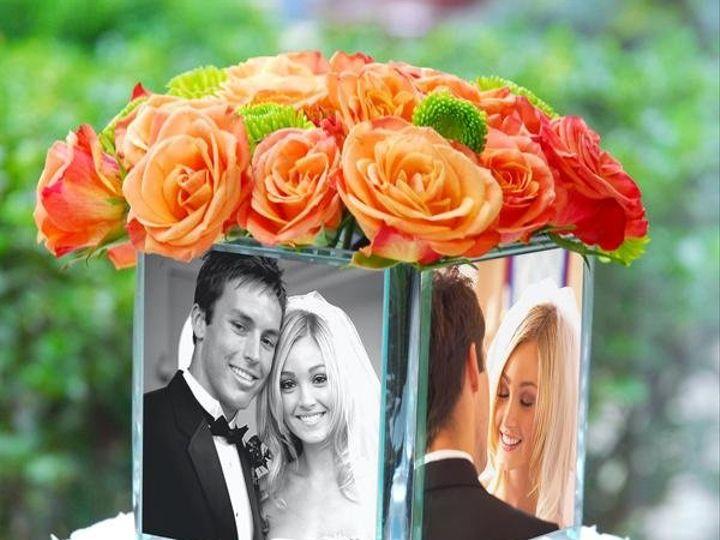 Tmx 1249018688397 Squareglassphotovase Warwick wedding favor
