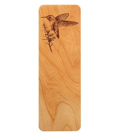 hummingbird bookmark cherry