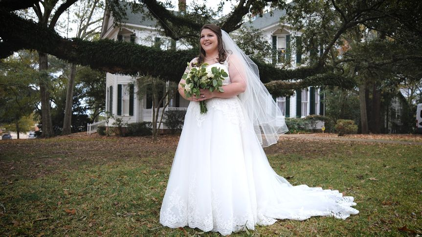 A bride on her wedding day