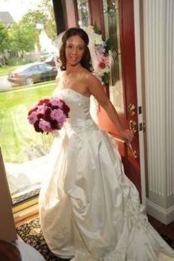 The bride in her white gown