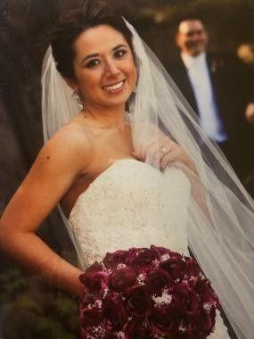Genuine smile of the bride