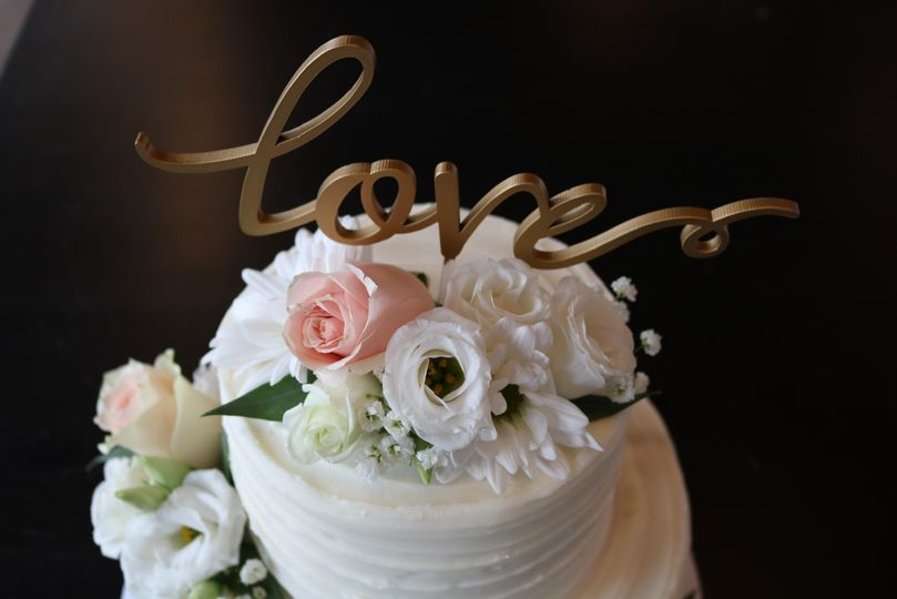 Cake Topper with Flowers