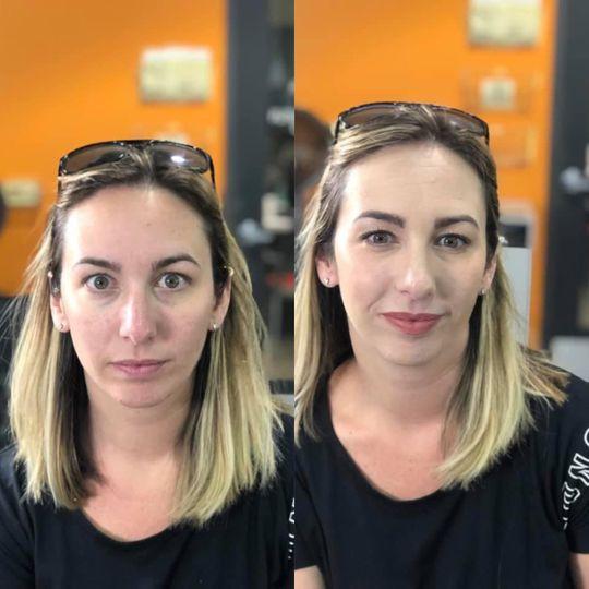 Subtle day makeup