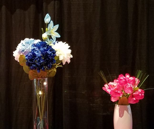 Flowers as table centerpiece