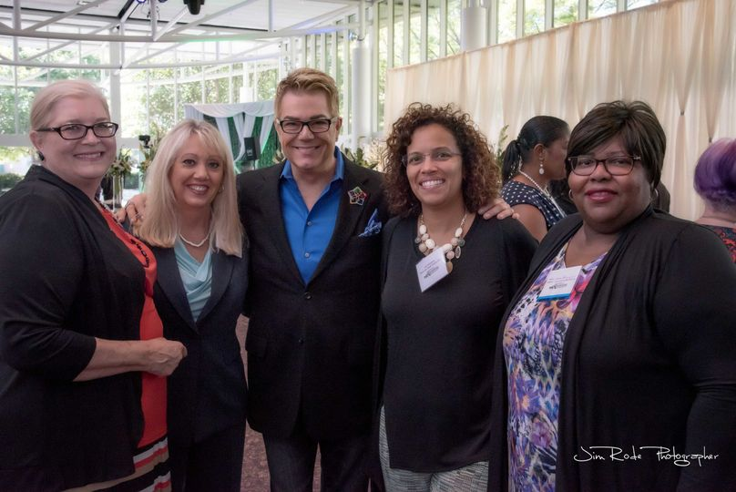 Donnie Brown, celebrity wedding planner, with me and my friends.