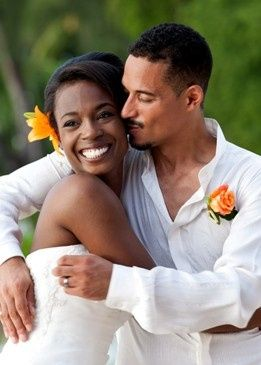 Beaming bride from Canada after her destination wedding in Barbados to her dapper groom!