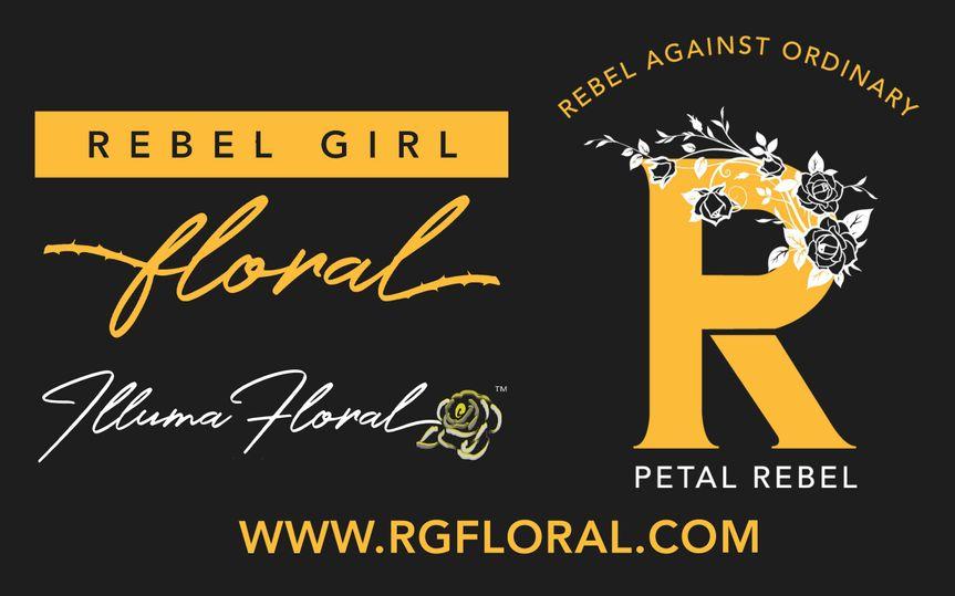 Rebel Girl Floral Logo