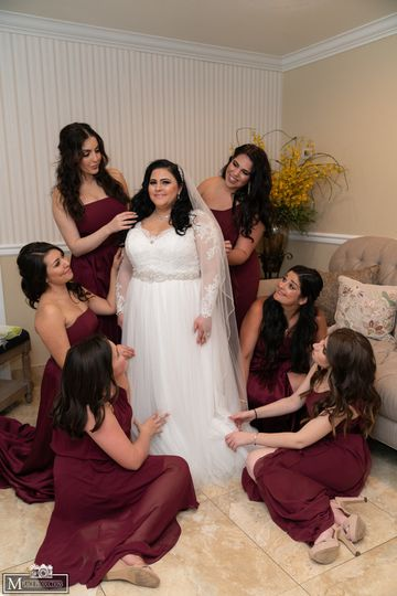 Prepping the Bride