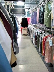 A variety of clean garments