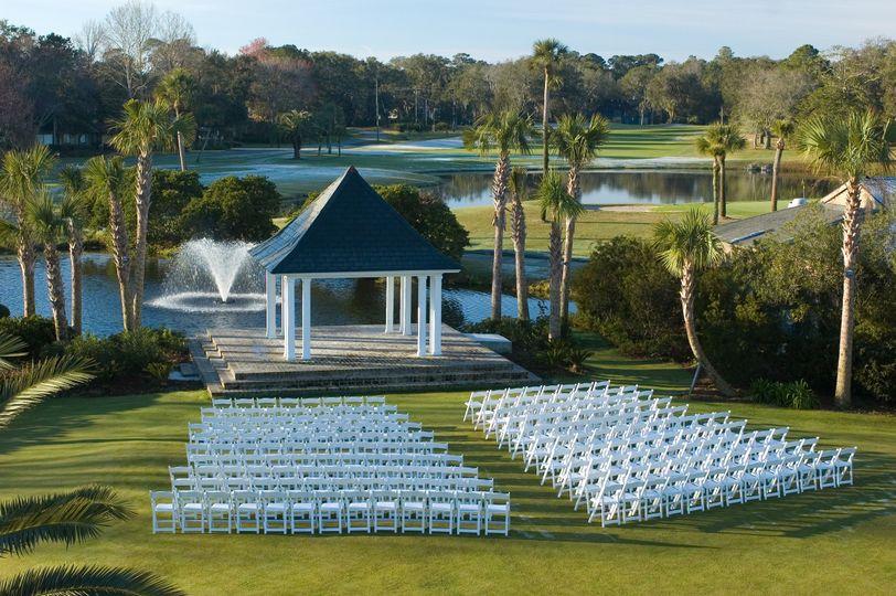 Wedding cereony setup