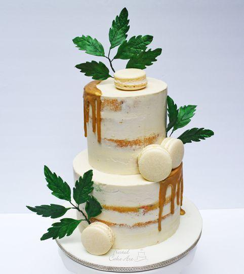 Semi Naked Cake with Macrons