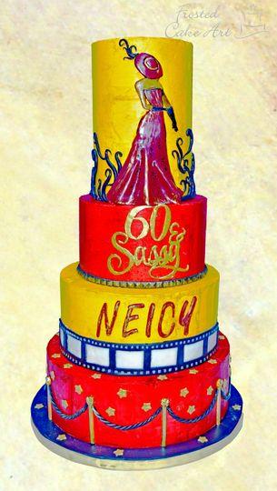 Elegant Hollywood Themed Cake