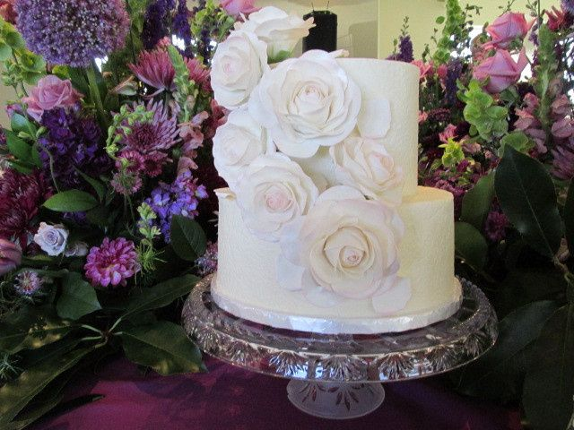 Tmx 1437933292770 Sugar Roses And Textured Buttercream Auburn, CA wedding cake