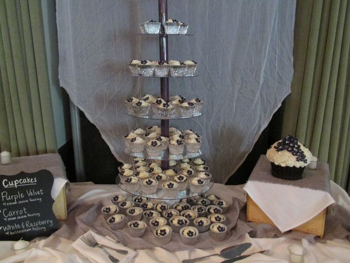 Tmx 1437935351993 Purple Velvet Cupcakes Auburn, CA wedding cake