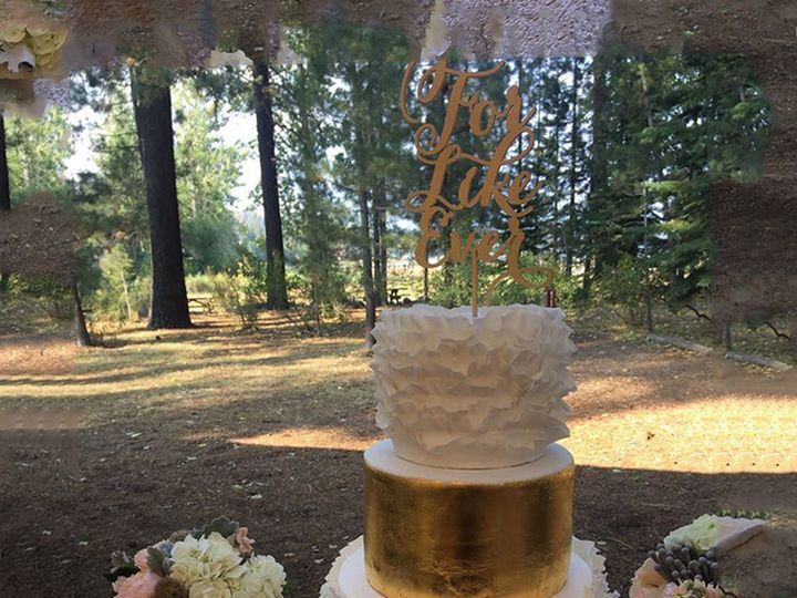 Tmx 1477812249296 Gold Cake2 Auburn, CA wedding cake