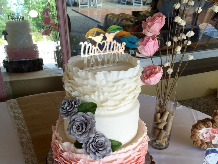 Tmx 1477812535174 June2016ruffle Auburn, CA wedding cake