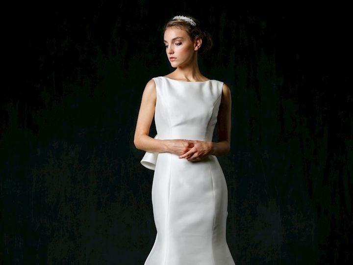 Tmx Sareh Nouri Bateau Neckline Silk Fit And Flare Wedding Dress 33803768 51 987421 158635182237690 Montclair, New Jersey wedding dress