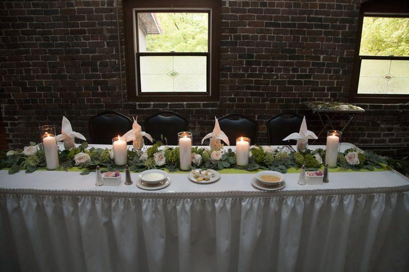 Head table/Sweetheart Table