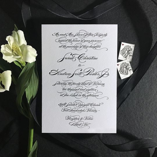 Elegant themed invite