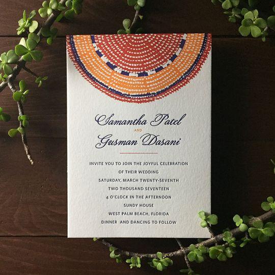 Colorful invite