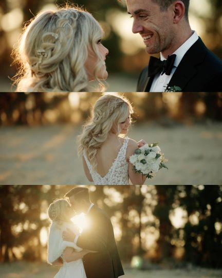 Wedding film frame grabs