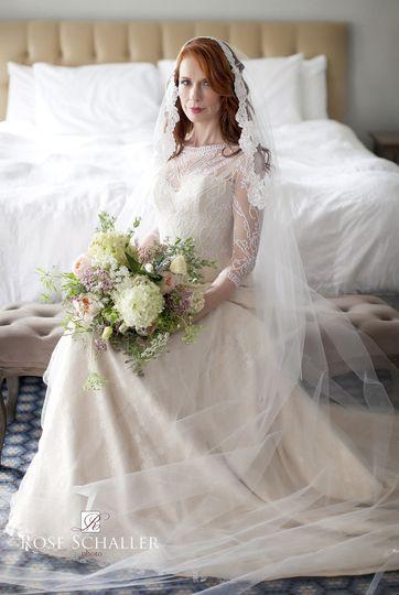 Bride sitting pretty