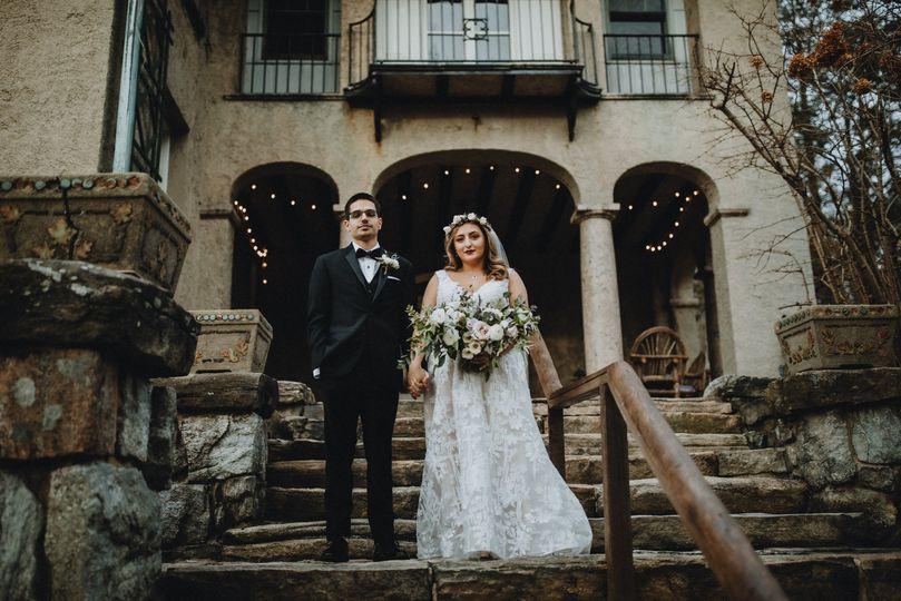 Bride & Groom Patio Stairs