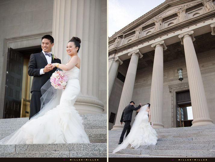 museum of science industry wedding photography