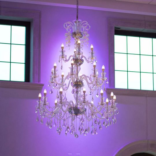 Lily of the Valley Crystal Chandelier  in the Platinum Ballroom