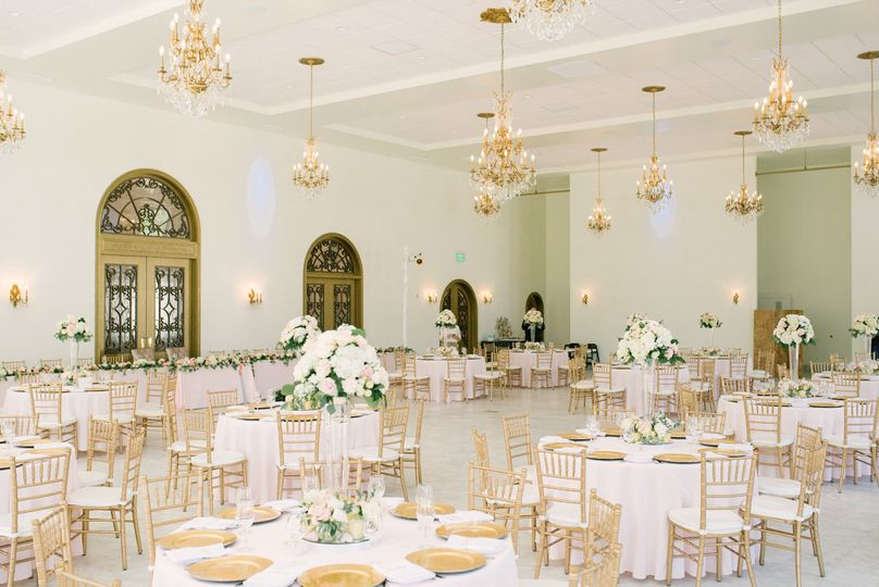 The elegant gold ballroom