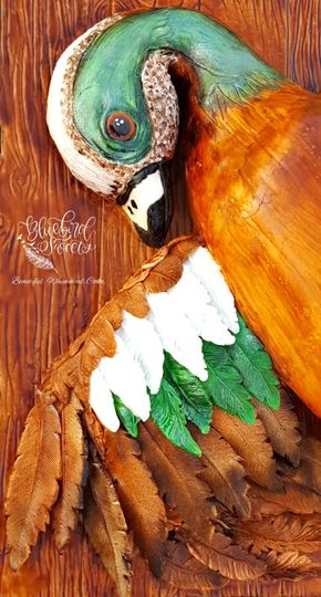 Carved duck cake