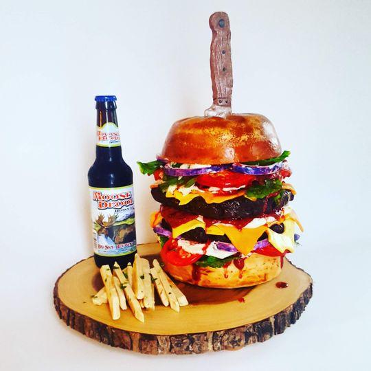 Burger lover's groom cake