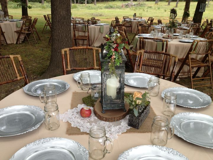 Outdoor event with bohemian apple theme