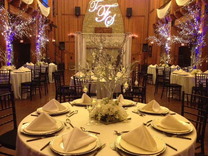 Integrity hills winter wonderland wedding setup