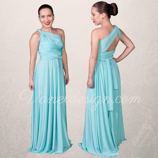 4639ec8cacd Grey Ombre Convertible Bridesmaid Dresses Robin Egg Blue Convertible  Bridesmaid Dress