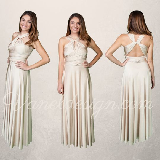 43a7e92d5bf Short Purple Convertible Bridesmaid Dress Champagne Convertible Bridesmaid  Dress