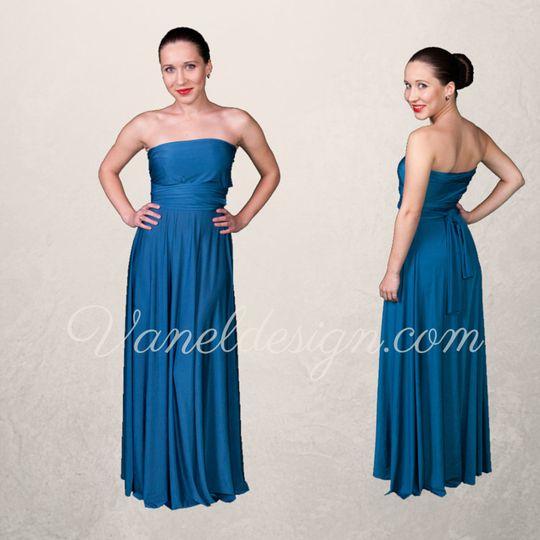 Cobalt Blue Convertible Bridesmaid Dress