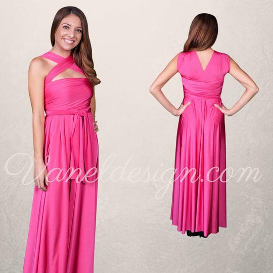 Fuschia Convertible Bridesmaid Dress