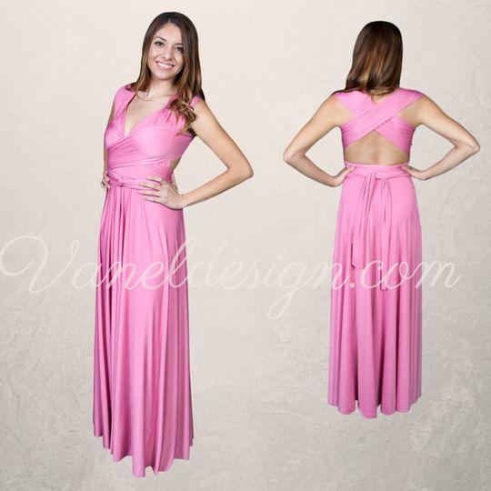 Pink Convertible Bridesmaid Dress