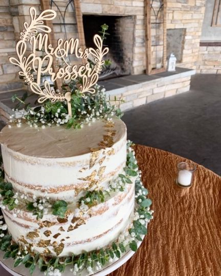 Top View Naked Wedding Cake