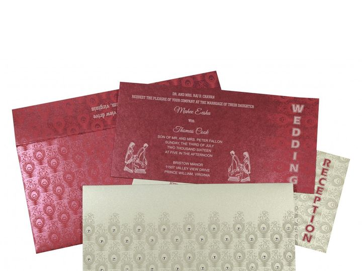 Tmx 1454917822303 New Arrivals   Aw 8256g   Hindu Wedding Invitation Bothell wedding invitation