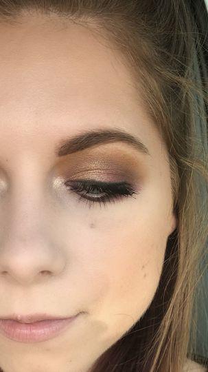 Glowing brown shades