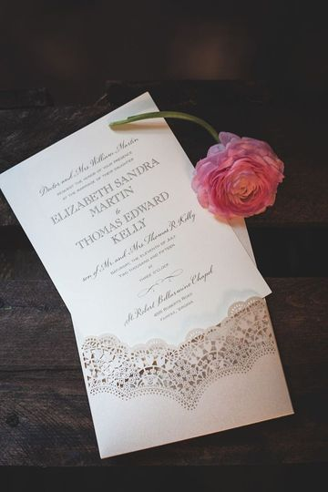 A romantic custom invitation