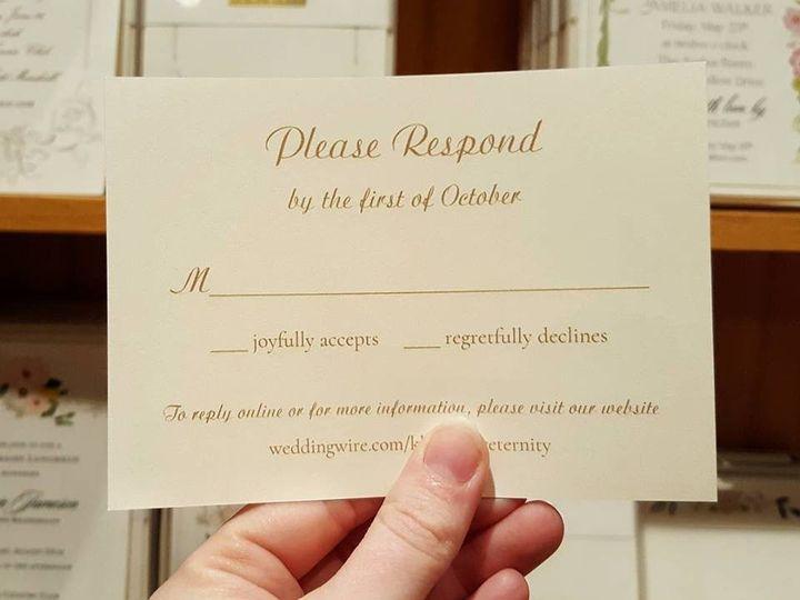 Tmx 1481063876588 In House Printingwedding Response Card Lancaster, Pennsylvania wedding invitation